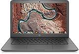HP 14' HD SVA anti-glare WLED-backlit Lightweight Chromebook Laptop, Intel Celeron N3350, 4GB DDR4, 32GB eMMC, WiFi, Bluetooth, Webcam, Media Reader, USB 3.1 Type-C, Chrome OS, 32GB ABYS Micro SD Card