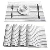 LYMUP Tovagliette a doppio lato, isolamento termico antiscivolo tovaglietta antiscivolo tessitura tovaglietta tavolo da cucina impermeabile manuale croce tessitura tappetino (dimensioni: 6 pezzi)