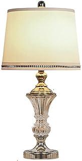 Lampe de Bureau en Cristal de Style européen Simple Lampe de Chevet de Chambre à Coucher Lampe de Chevet en Verre Minimali...