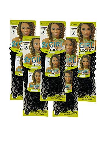 5PACKS Pretty Girl Locs Naturall Braid Series - Faux Locs Crochet Hair - Premium Natural Synthetic Quality Curly Box Braids (12 5Packs, 1)