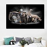 UHvEZ Elefante Animal Oso Polar_1000pcs_Wooden Puzzle Puzzle_Rompecabezas de Madera Personalizados, imágenes Completas, Juguetes de Bricolaje para decoración de Adultos_50X75CM