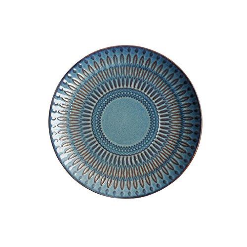 Koala Superstore Plaques en céramique en Forme Ronde, 8,5 Pouces, Gris Bleu