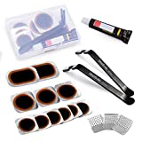 Maifede Bike Tube Repair Kit, Bicycle Inner Tire Patch, with Ultra Strong Levers, for Cycling, Motorcycle, BMX, ATVs and More Inflatable Rubber. (Black)