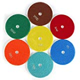 Almohadillas de pulido de diamante húmedo de 5 pulgadas y 125 mm, discos de pulido de almohadillas de pulido para piedra de mármol de hormigón de granito(150)
