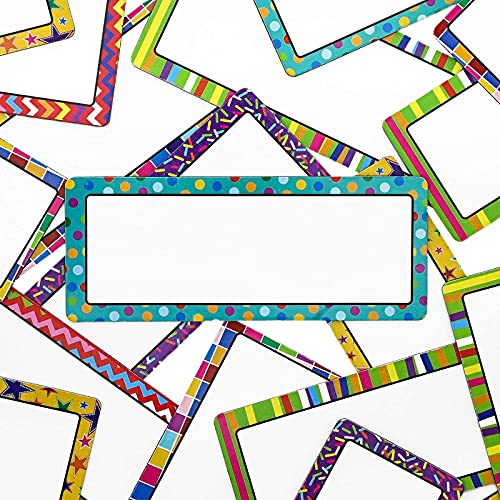 Magnetic Name Tags for Classroom, School Supplies for Teachers (2 x 5 in, 36 Pack)