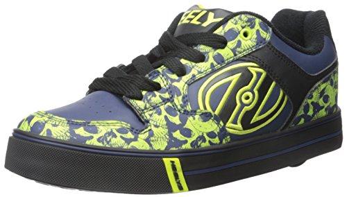 Heelys Motion Plus, Mädchen Skateboardschuhe, Mehrfarbig - Multicolore (Black/Navy/Lime) - Größe: 35 EU