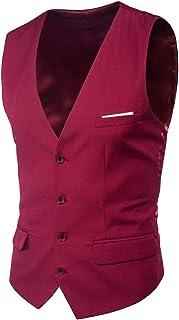 Men's Slim Fit Wedding Waistcoat Casual Regular Fit Business Suit Vests