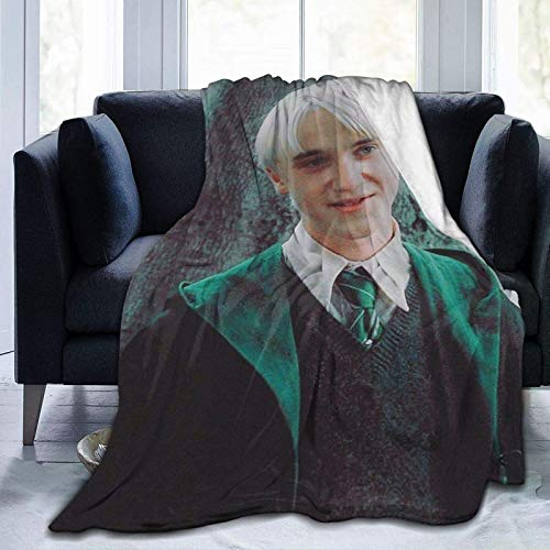 Tengyuntong Skin-Friendly Flannel Blanket Draco_ Malfoy Warm Comfortable Sofa Throw Suitable for All Seasons Sofa Bed Carpet Decorative Travel Camping 60x50in