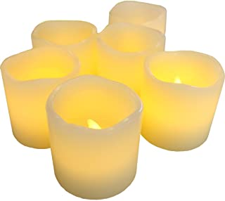 LED Lytes Battery Operated Candles - Set of 6 Ivory Wax Candles 2