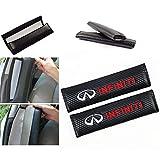 Wall Stickz car Sales 2 Pcs Car Seat Belts Covers Padding Carbon Fiber Leather Belt Shoulder Sleeve (fit Infiniti)