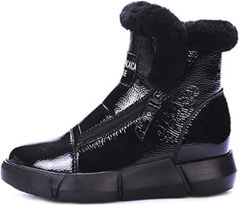 Snow Boots Women's shoes Winter Boots Cotton shoes Warm Cotton Boots outdoor Sports shoes Casual Walking shoes shoes & Handbags (color   Black, Size   35)