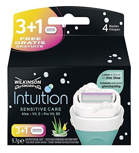 Wilkinson Sword Intuition Sensitive Care Rasierklingen für Damen Rasierer, 4 Stück