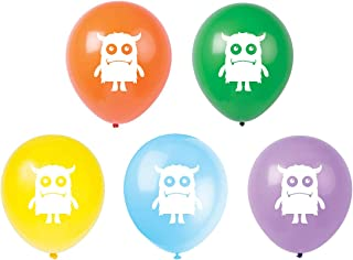 Monster Latex Balloons, 15-Pack 12inch Monster Birthday Party Balloon, Decorations, Supplies