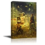 wall26 - Sadko in The Underwater Kingdom by Ilya Repin - Canvas Print Wall Art Famous Painting Reproduction - 16' x 24'