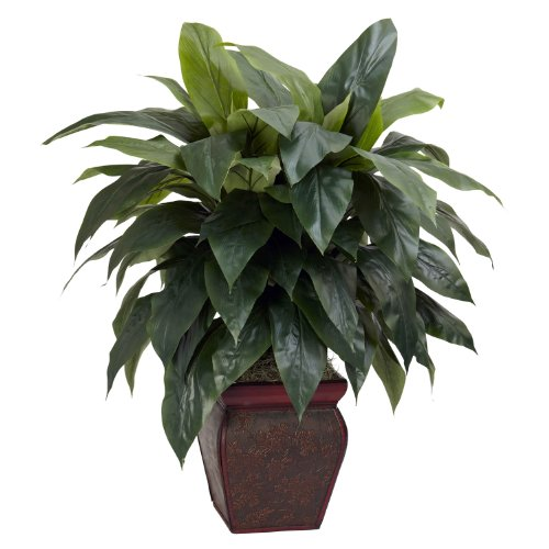 Nearly Natural 6688 Cordyline with Vase Decorative Silk Plant, Green