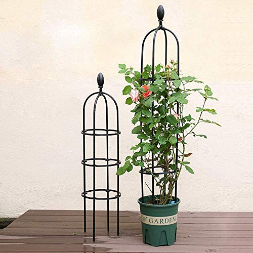 ZXL Metal Climbing Plant Supports for Potted Plants, Garden Obelisk Flower Support, Garden Obelisk Flower Frame Trellis, Garden Frame for Climbing Vines And Plants