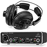 Behringer Interface Audio UMC22 U-Phoria + Auriculares Estudio Pro Superlux HD668B 256 Ohm