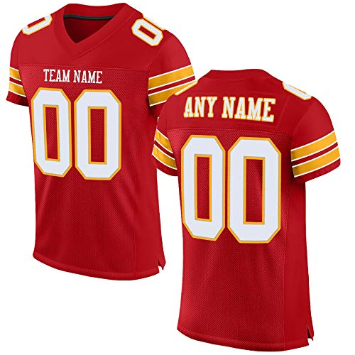 INAGWE Football City Fan Customization Personalize Team Name & Number Christmas Birthday Gifts Jersey Men/Youth/Women S-3XL
