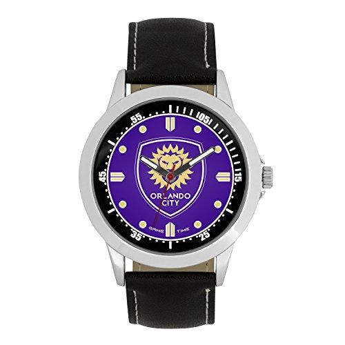 MLS Orlando City SC Mens Player Series Wrist Watch, Silver, One Size
