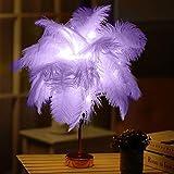 LED Lamp(Ostrich Feather Table), Wedding Resturant Event Decoration Light .XINHUIGLOBAL (Color : Violet)