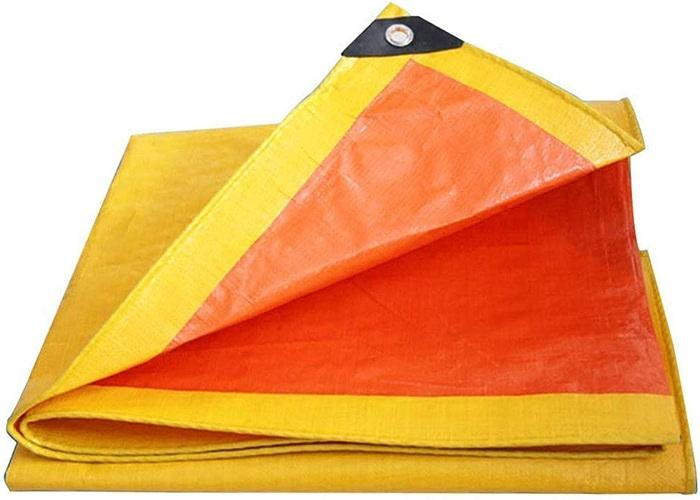 Liul Bache De Prougeection Extérieur Double Face Super Anti-poussière Résistant Au Froid,240g   M2,épaisseur 0.4mm,Rouge + Jaune,12 Tailles,jaune-3x6m