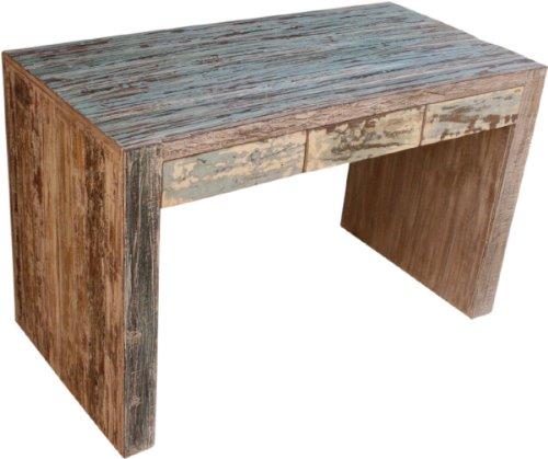 Guru-Shop Schreibtisch old Teak JH8-654 - Modell 26, Braun, 77x120x60 cm, Schreibtische & Schreibpulte
