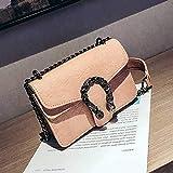 Mdsfe Snake Bags Women Handbags Crossbody Bags For Women 2019 Luxury Handbags Women Bags Designer Women Leather Handbag Ladies - Pink