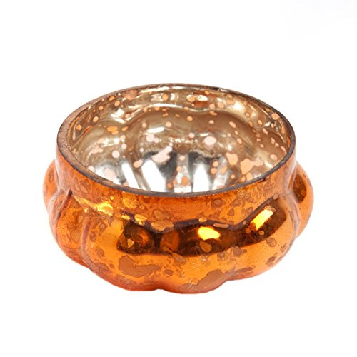 Insideretail Wedding Teal Ight Holders, Vetro, Orange, 7x 7x 7cm, 24unità