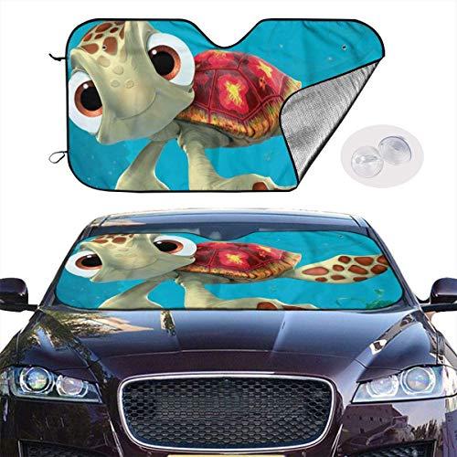 N / A Visera Reflectante,Auto Shield Cover,Finding Nemo Sea Turtles Parabrisas De Coche Duradero Parasol Mantiene Su Vehículo Fresco,Fácil De Usar Se Adapta A La Mayoría De Vehículos 130X70Cm
