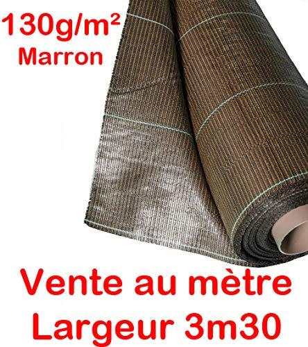 Vente au mètre / 130g/m2 Toile Bache de paillage tissée Marron Anti-Mauvaises Herbes