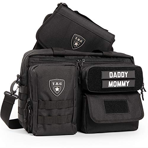 Tactical Baby Gear Deuce 2.0 Tactical Diaper Bag with Changing Mat (Black)
