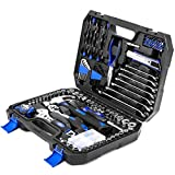148-Piece Household Repair Tool Kit Set, PROSTORMER Mixed Socket Wrench Hand Tool Kit with Tool Box Storage Case for Auto Repair, DIY, Home Maintenance