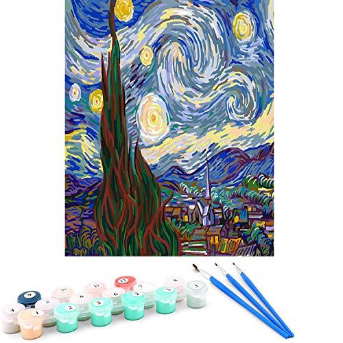 MingHing DIY Dipinto ad Olio Dipingere con i Numeri Kit per Adulti Bambini - 16 * 20 Pollici
