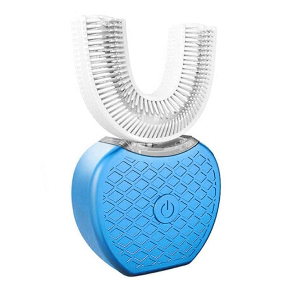 ワイヤレスUSB充電怠Laな自動ソニックシリコン電動歯ブラシ歯ホワイトニングクリーニングブラシパーソナルケア、C