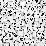 1200 Piezas Letras para Pulseras 6 mm Abalorios Letras para Hacer Pulseras A-Z para DIY Manualidades