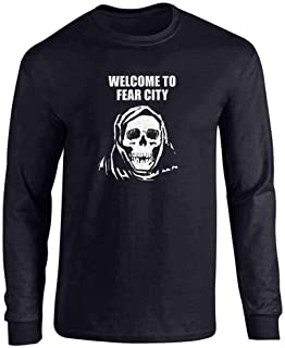 Welcome To Fear City Skull Long Sleeve T-Shirt