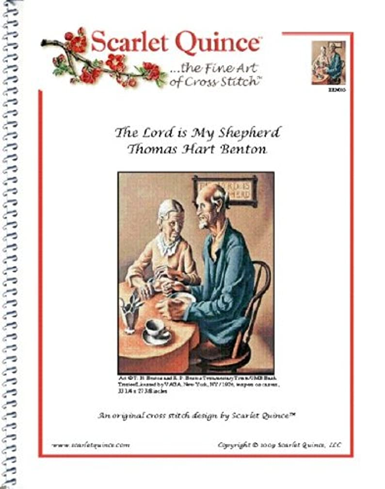 Scarlet Quince BEN005 The Lord is My Shepherd by Thomas Hart Benton Counted Cross Stitch Chart, Regular Size Symbols
