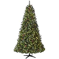 Home Accents Holiday 7.5 ft Alexander Pine Pre-Lit LED Artificial Christmas Tree with 550 SureBright Warm White Lights