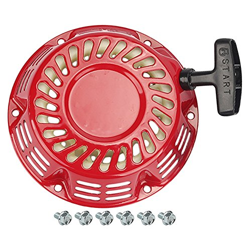 Hipa Recoil Starter + Bolts for Champion Power Equipment 196CC 6.5HP 3000 3500 4000 Watt Generator 46558 46561 46596 46533 46534 46535 46539 46540 46551 46553 46554 46555 40025 40026 40008 40010