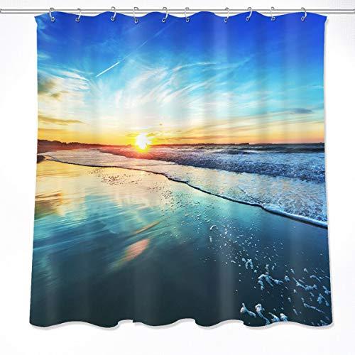 NNAYD1996 Impresión de paisajes de Playa oceánica Impresión Digital a Prueba de Agua y Moho