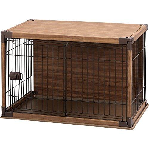 アイリスオーヤマ インテリアウッディサークル ブラウン 小型犬用 幅97.5×奥行66.5×高さ63.5cm