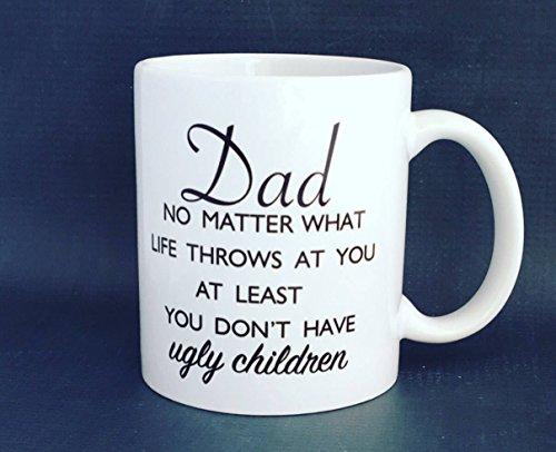 Papa geen kwestie wat er gebeurt in het leven op zijn minst je niet lelijke kinderen vader dag mok papa mok koffie mok grappige mok vaatwasser veilig