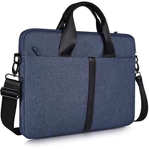 15.6 Inch Laptop Sleeve Shoulder Bag, Waterproof Men Women Briefcase Handbag for Acer Aspire E15/Predator, Lenovo Yoga 720/730 15.6, HP Envy/Spectre 15.6, MSI GS65 ASUS Dell Inspiron Case, Navy Blue