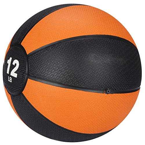 F2C Medicine Ball for Core Strength And Coordination Exercise With Non-Slip Rubber Shell And Textured Surface