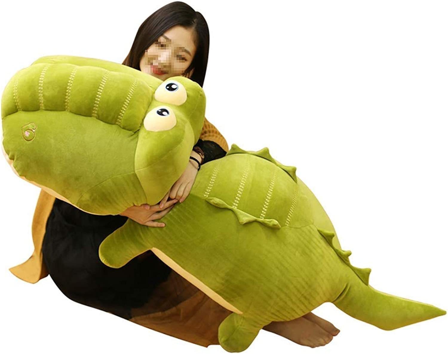 RUBB Dragon Toy yellow Stuffed Dinosaur Plush Toy, Plush Dinosaur Stuffed Animal, Dinosaur Toy for Baby Girl Boy Kids Birthday Gifts (Size   90cm)