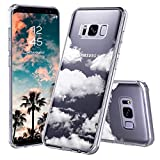 MOSNOVO Galaxy S8 Plus Case, Cloud Pattern Clear Design Printed Transparent Plastic Back Hard Case with TPU Bumper Protective Case Cover for Samsung Galaxy S8 Plus
