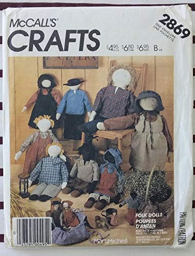 71cm Simplicty 7668 folk art doll and clothes pattern 28