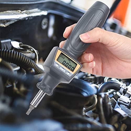 Destornillador de torsión digital conveniente, dinamómetro de torsiómetro medidor 2 x baterías AAA 6.35mm ZNS-2 plástico hecho