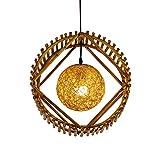 MFZWBGY Sureste Asiático Estilo Restaurante Decoración Chandelier Hand-Tejido de bambú Creativo Arte Colgante Iluminación Moderna y Simple Lámparas de Ahorro de energía