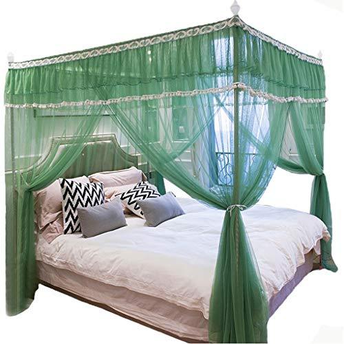 4 ecke gürtel top tasse baldachin bett vorhang kinder bettdecke net moskitonetz schlafzimmer dekoration einweihungsparty geschenke prinzessin wind ( Color : Green , Größe : Suitable for 1.2*2m bed )
